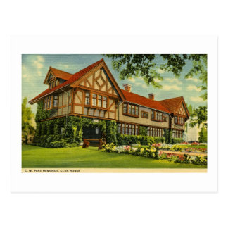 C.W. Post Clubhouse Battle Creek, Michigan Postcard