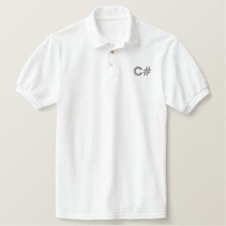 C# work shirt polos