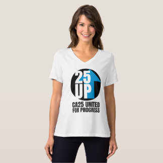 CA25UP Lg Black Logo Relaxed-Fit V-Neck Tee