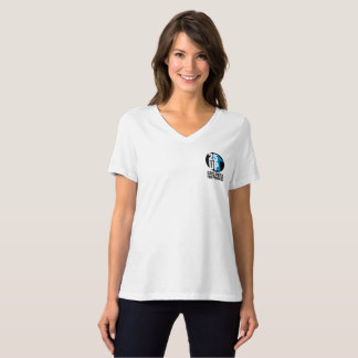 CA25UP Sm Logo Relaxed-Fit V-Neck Tee