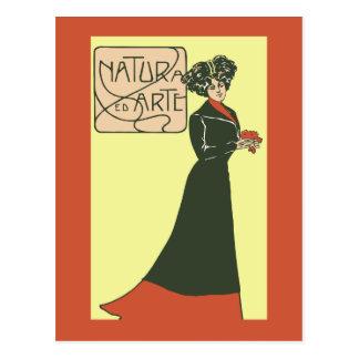 ca 1900 Vintage Italian Ladies Fashion 2 Post Cards