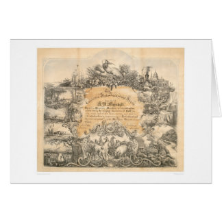 CA. Agricultural Society Certificate (0058A) Greeting Card