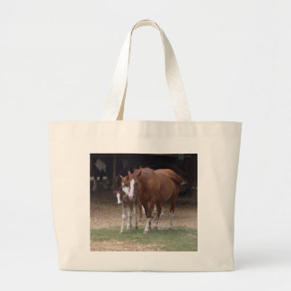 CA- Beautiful Large Horses Tote Bag