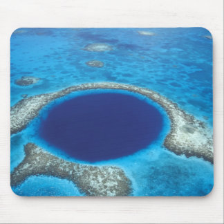 CA, Belize. Aerial view of Blue Hole (diameter Mouse Pad