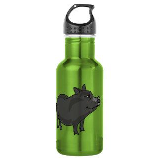 CA- Funny Pot Bellied Pig 532 Ml Water Bottle