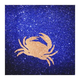 Cab Marine Sea Ocean Life Pink Rose Gold Copper Canvas Print
