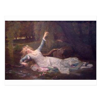 Cabanel Alexandre Ophelia 1883 Postcard