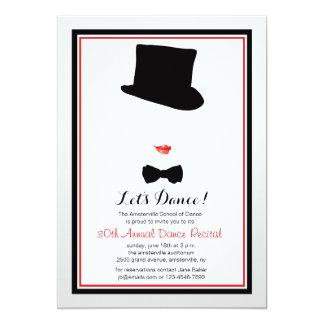 Cabaret Framed Dance Recital Invitation