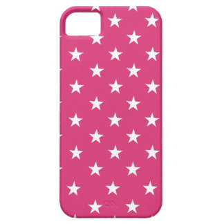 Cabaret Red, Fuchsia, White Stars. For iPhone 5/5S Case For The iPhone 5