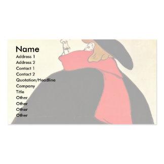 Cabaret Son  By Toulouse-Lautrec Henri De Business Card Template