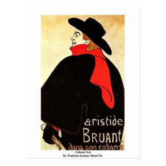 Cabaret Son  By Toulouse-Lautrec Henri De Postcard