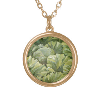 Cabbage 2013 gold plated necklace