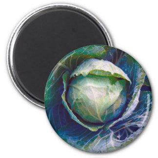 Cabbage 6 Cm Round Magnet