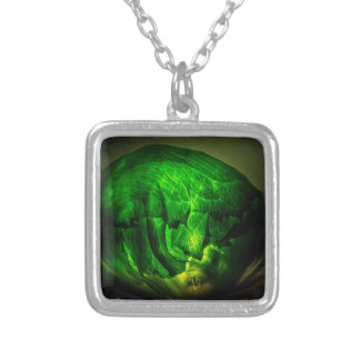 Cabbage-966 Silver Plated Necklace