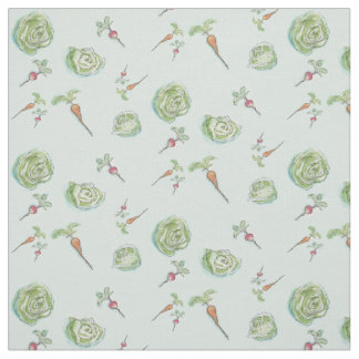 Cabbage and carrots and radishes oh my fabric