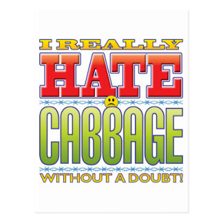 Cabbage Hate Face Postcards