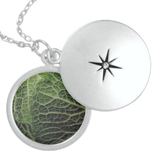 Cabbage Medium Sterling Silver Round Locket