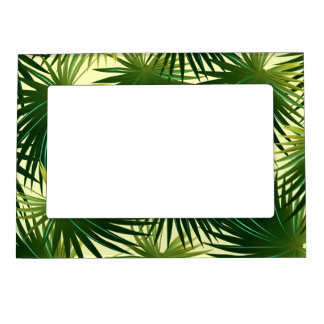 Cabbage palm leaf magnetic picture frame