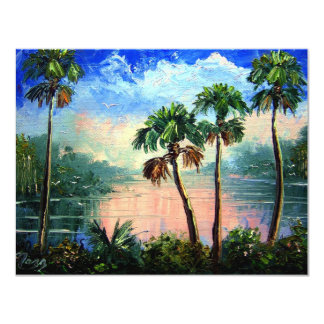 Cabbage Palm River Reflections9by12Nov13th2009 11 Cm X 14 Cm Invitation Card