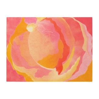 Cabbage Rose III Wood Wall Art