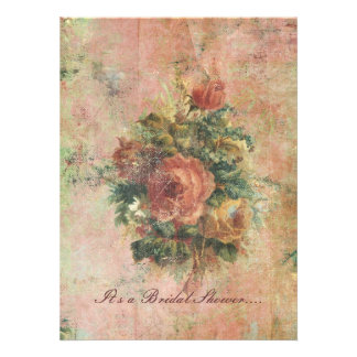 Cabbage Roses Bridal Shower invitation