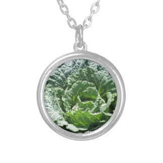 Cabbage Silver Plated Necklace