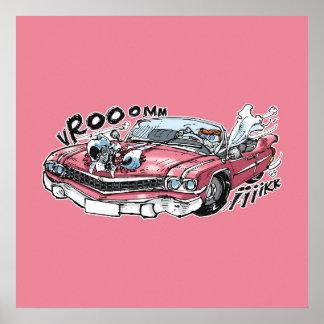 cabbar baba drive on pink cadillac poster