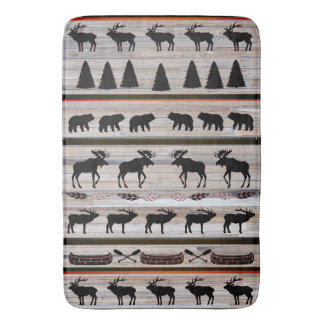 Cabin Blanket Design by Leslie Harlow Bath Mat