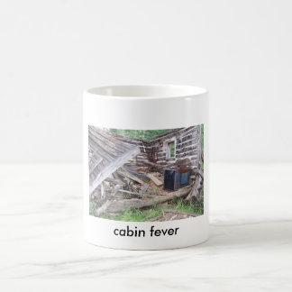 cabin fever basic white mug
