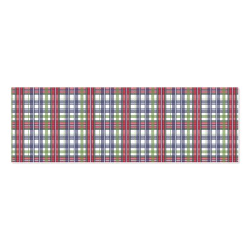 Cabin Fever Plaid Business Cards