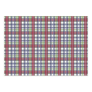 Cabin Fever Plaid Pack Of Chubby Business Cards