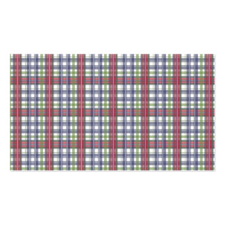 Cabin Fever Plaid Pack Of Standard Business Cards
