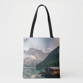 Cabin In A Fjord Tote Bag