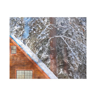 Cabin in the Snow Canvas Print