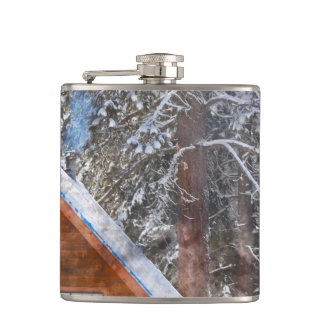 Cabin in the Snow Hip Flask