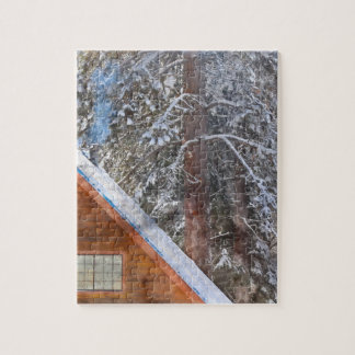 Cabin in the Snow Jigsaw Puzzle