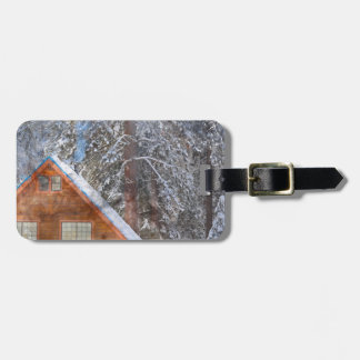Cabin in the Snow Luggage Tag