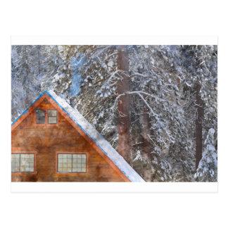Cabin in the Snow Postcard