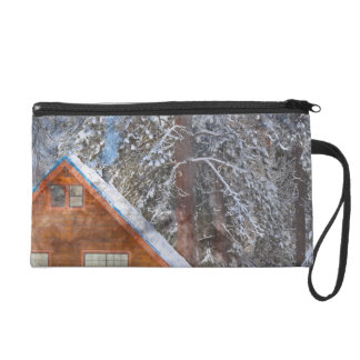 Cabin in the Snow Wristlet