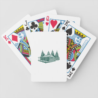 Cabin in the Woods... Bicycle Playing Cards