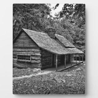 Cabin in the woods display plaque