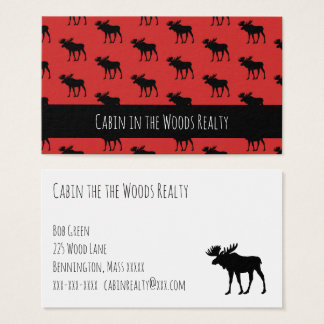 Cabin in the Woods Realty Business Card