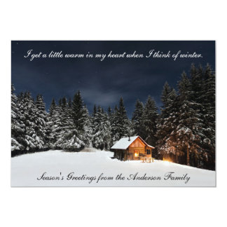 Cabin in the woods - Season's Greetings Card 13 Cm X 18 Cm Invitation Card