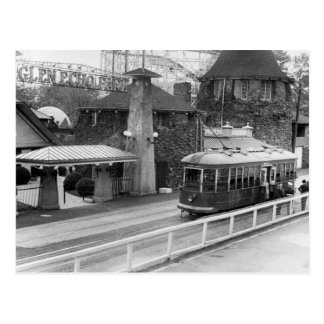 Cabin John Streetcar, 1930s Postcard