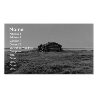 Cabin on tundra business card template