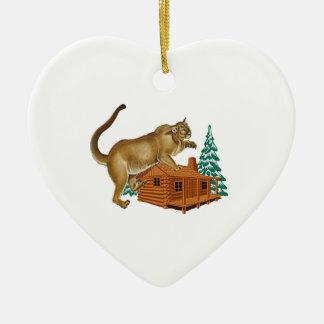 Cabin Pounce Ceramic Ornament