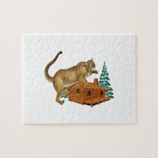 Cabin Pounce Jigsaw Puzzle