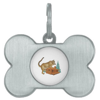 Cabin Pounce Pet ID Tag