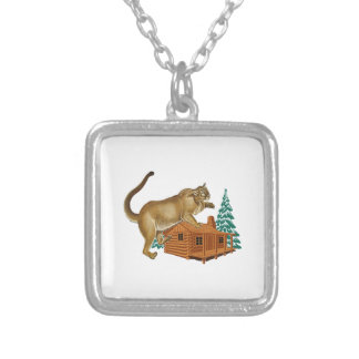 Cabin Pounce Silver Plated Necklace