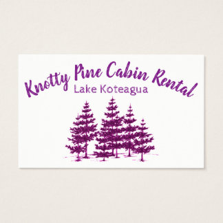 Cabin Rental Business Card Personalize